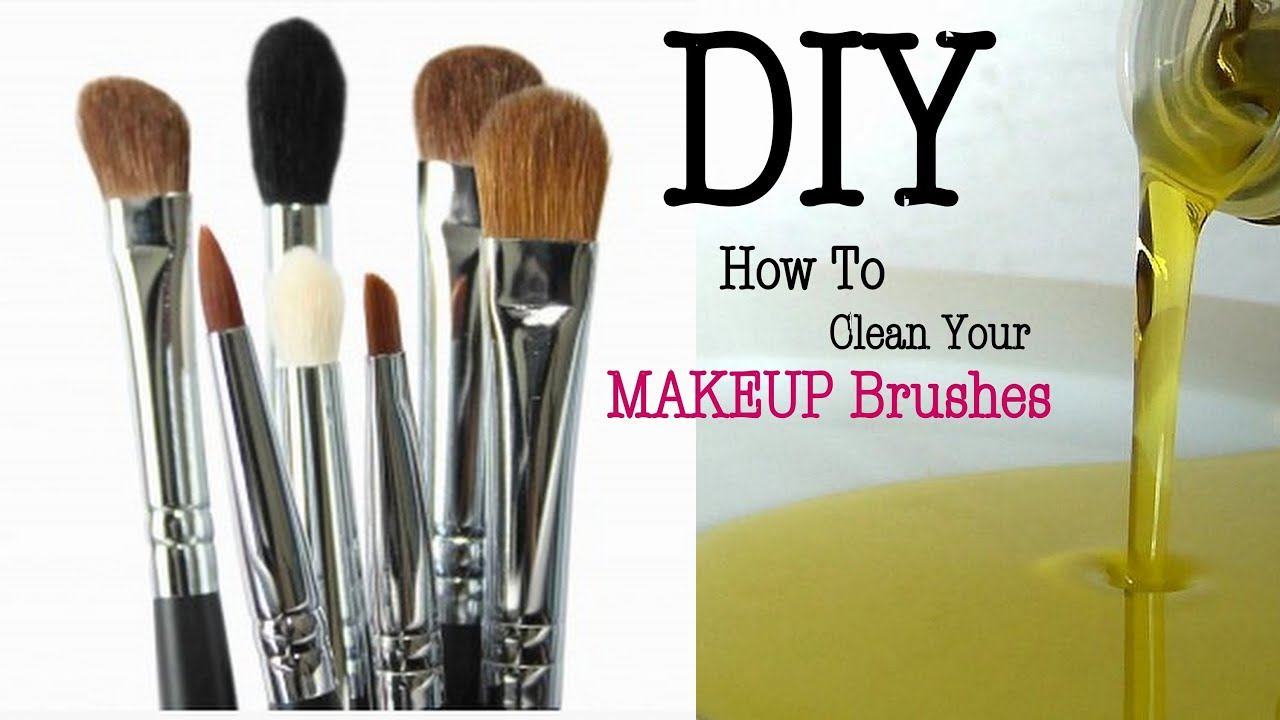 diy how to clean your makeup brushes sponges youtube. Black Bedroom Furniture Sets. Home Design Ideas