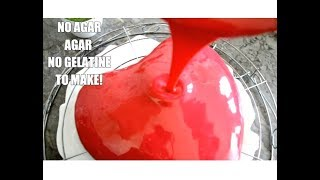 NO GELATINE! NO AGAR AGAR FOR THIS MIRROR GLAZE! HOW TO DECORATE YOUR CAKES  EASILY!