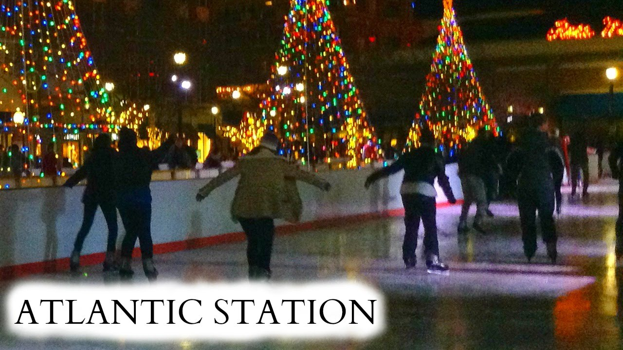 Atlantic Station During Christmas Time Atlanta Ga Youtube