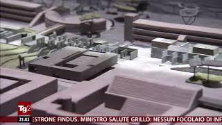 (architettura) plastico nuovo Corviale di Roma - TG2 07 07 2018 - case popolari anni '70