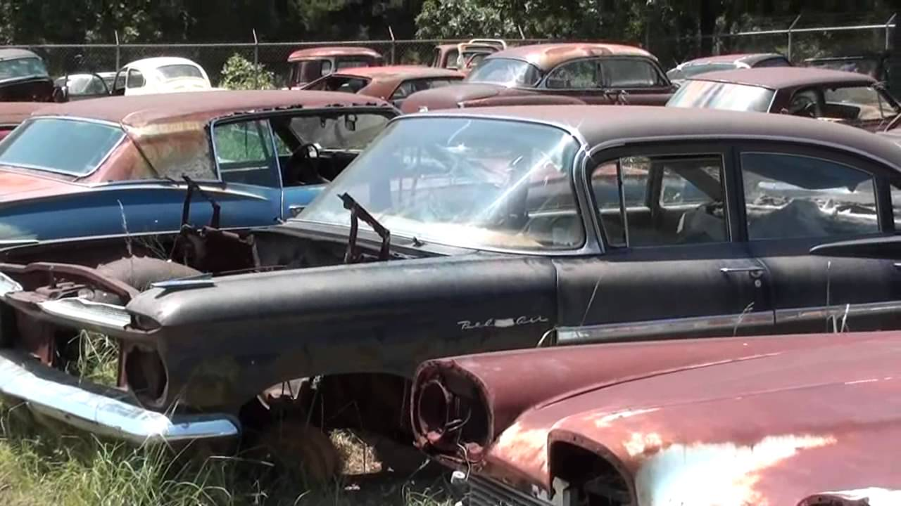 Gearhead Field Of Dreams - Antique Car Salvage yard - YouTube