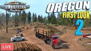 FIRST LOOK - Oregon DLC, Log  & Lumber Hauling | American Truck Simulator Gameplay
