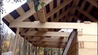 видео Крыша для бани своими руками