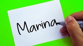 Zig & Sharko ! How To Turn Words MARINA into Cartoon