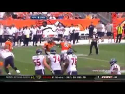 Matt Schaub loses ear on illegal hit(slow motion )