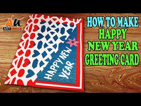 how to make beautiful new year card easy handmade new year card idea