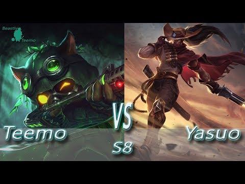 League of Legends - Omega Teemo vs Yasuo - S8 Ranked Gameplay (Season 8)