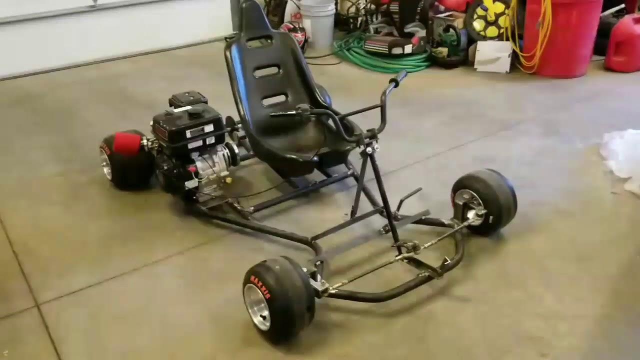 Go kart build video#2  301cc go kart predator motor