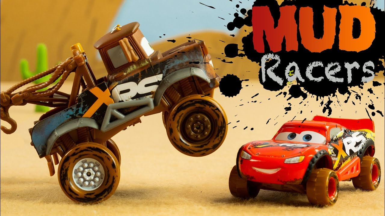 Disney Cars Xrs Xtreme Racing Series Mud Racers Suspensions Mcqueen