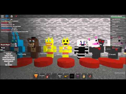 How To Make A Authentic Animatronic Morph Roblox Five Nights