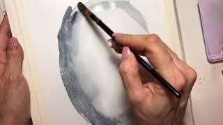Как нарисовать портрет акварелью. Гризайль.