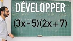 Développer - Double distributivité