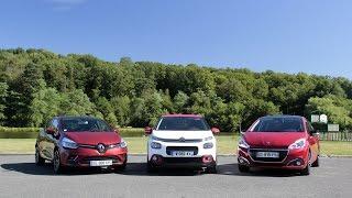 Comparatif - Citroën C3 2016 vs Peugeot 208 vs Renault Clio : pas là pour faire de la figuration