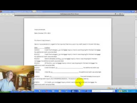How To Write A Credit Inquiry Explanation Letter Spring Mortgage