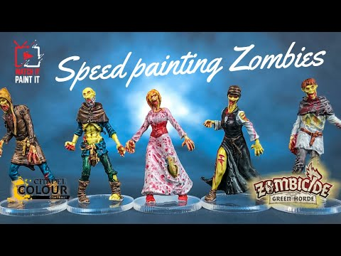 Speed Painting Zombicide Black Plague Walkers with Contrast Paints