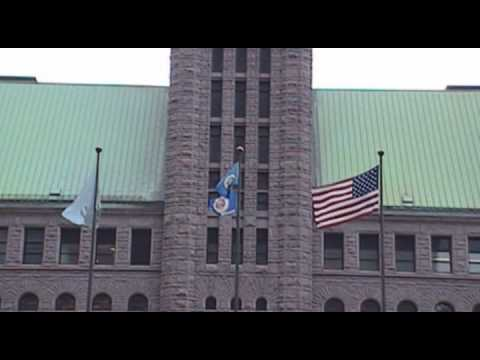 UN Flag Flies in Front of Hennepin COUNTY Government Center V.2