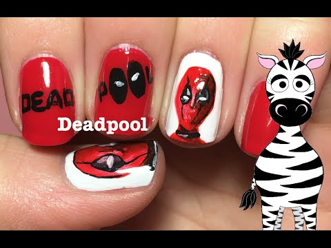 Deadpool Nail Art Design Tutorial (REQUEST) - Deadpool Nail Art Design Tutorial (REQUEST) - YouTube
