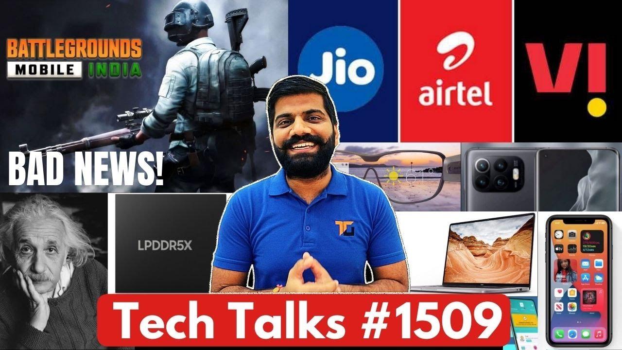 Tech Talks #1509 - Govt on iPhone, BGMI Bad News, Jio AirTel Vi Updates, Mi 12 Updates, RedmiBook 15
