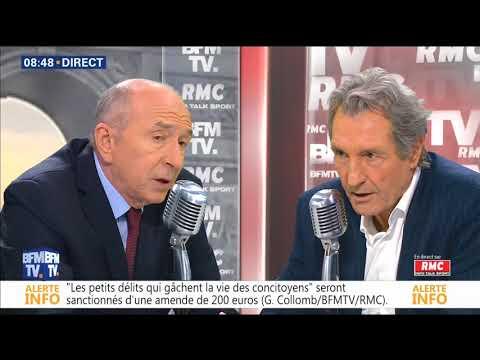 BOURDIN DIRECT du 09/02/2018 Gérard COLLOMB Ministre de l'Intérieur