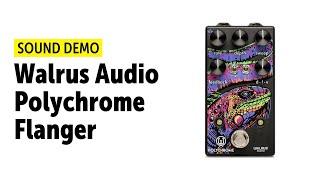 Walrus Audio Polychrome Analog Flanger - Sound Demo (no talking)