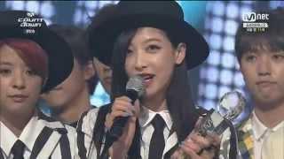 hd 140717 f x number 1 win mnet countdown 엠카 1위 발표
