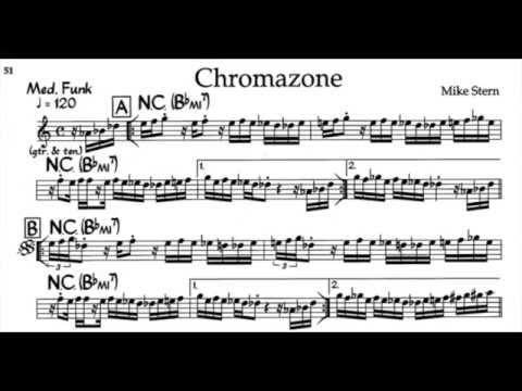 Chromazone Pt 1 - Mike Stern FUNK FUSION Lead Sheet 60/0/100 bpm Video 20