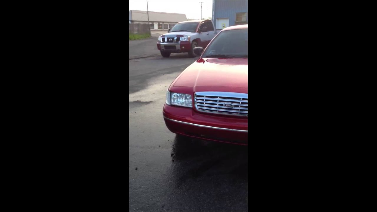 Tires 4 Less >> Candy Apple Red Crown Vic on 24's - YouTube