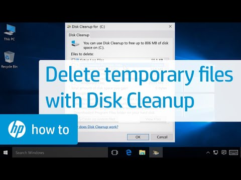 Deleting Temporary Files with Disk Cleanup in Windows | HP Computers | HP