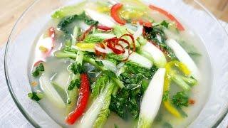 시원한 열무물김치 ( Young radish Watery kimchi )