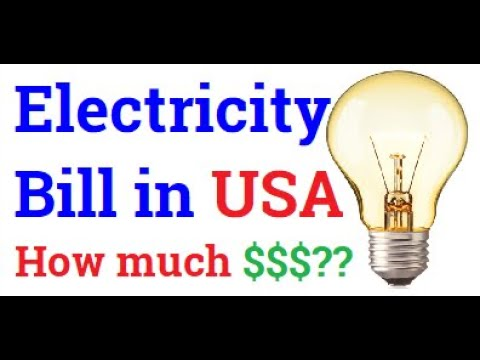 My Electricity Bill In USA  | Cost Of Electricity In USA | Average Monthly Electric Bill In USA