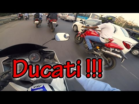Loud Ducati Monster in Mumbai