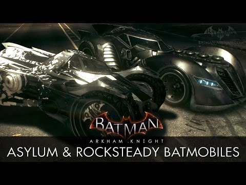 Batman: Arkham Knight - Arkham Asylum & Rocksteady Batmobile Skins