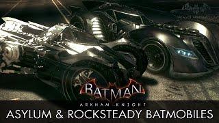 Batman: Arkham Knight - Arkham Asylum & Rocksteady Batmobile Skins