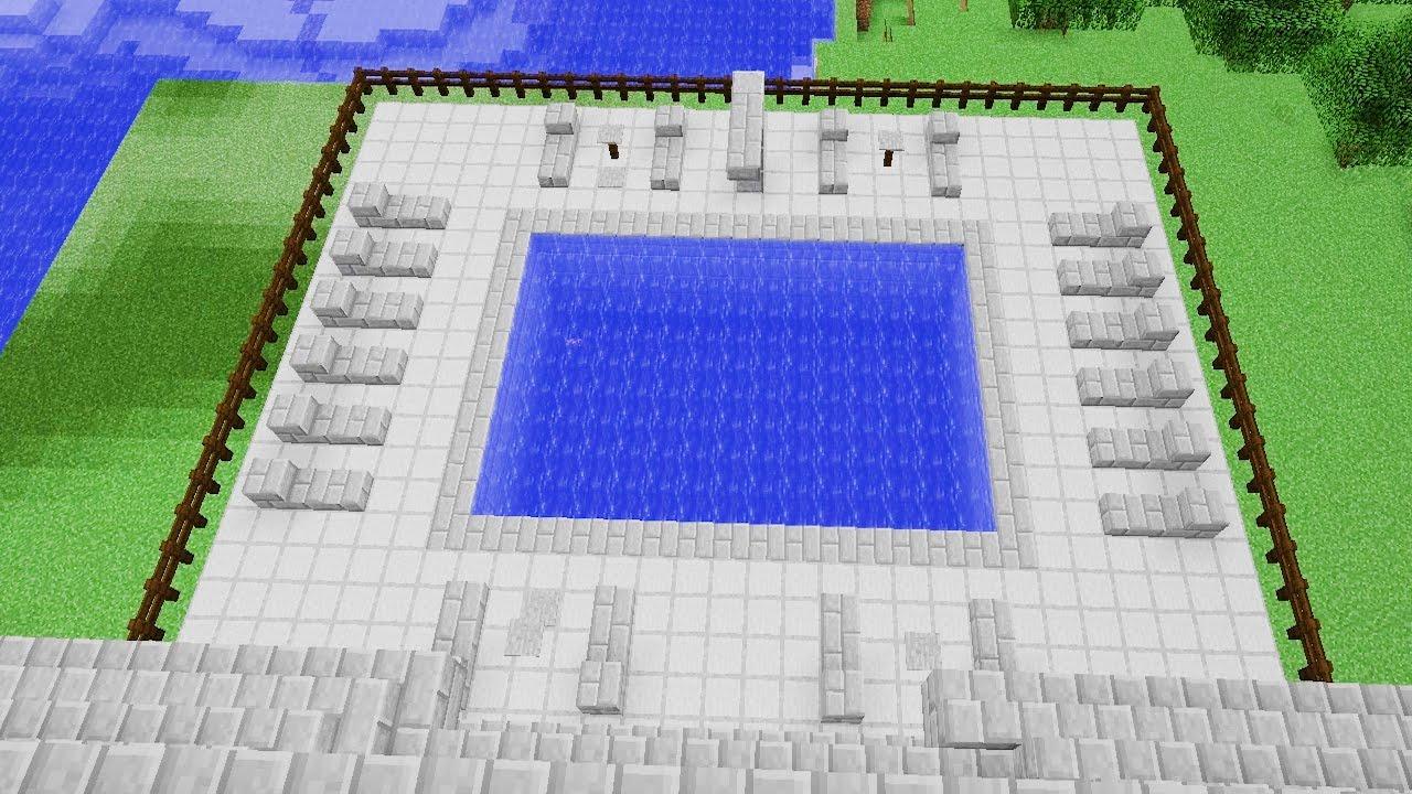 картинки как построить бассейн в майнкрафте народную