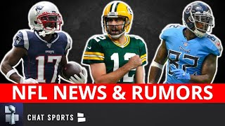 Nfl news and rumors today are led by an aaron rodgers trade to the cowboys for dak prescott? plus, there some around antonio brown, delaine walker...