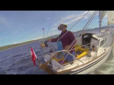 Vertue Ashiki sailing the Salish Sea, BC Canada.