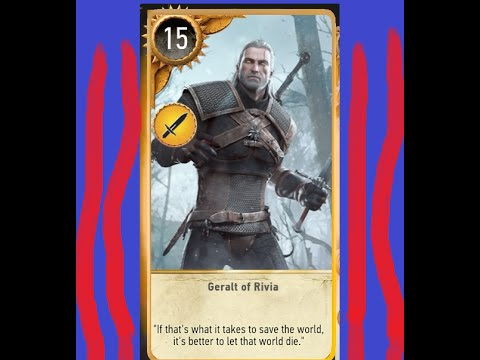 Witcher 3 geralt wins the baron 39 s unique gwent card a - Ciri gwent card witcher 3 ...