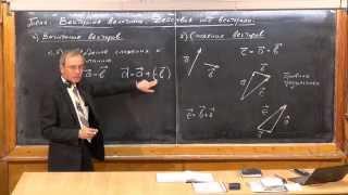 Урок 8. Векторные величины. Действия над векторами.