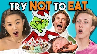 Try Not To Eat Challenge - Holiday Movie...