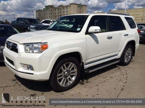 Great Pre Owned White 2012 Toyota 4Runner 4WD 4dr V6 SR5   Fort McMurray, AB