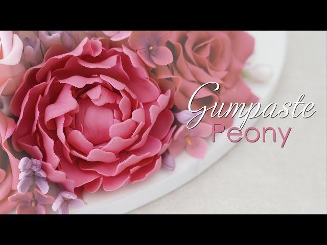 Gumpaste Peony - Cake Decorating Tutorial