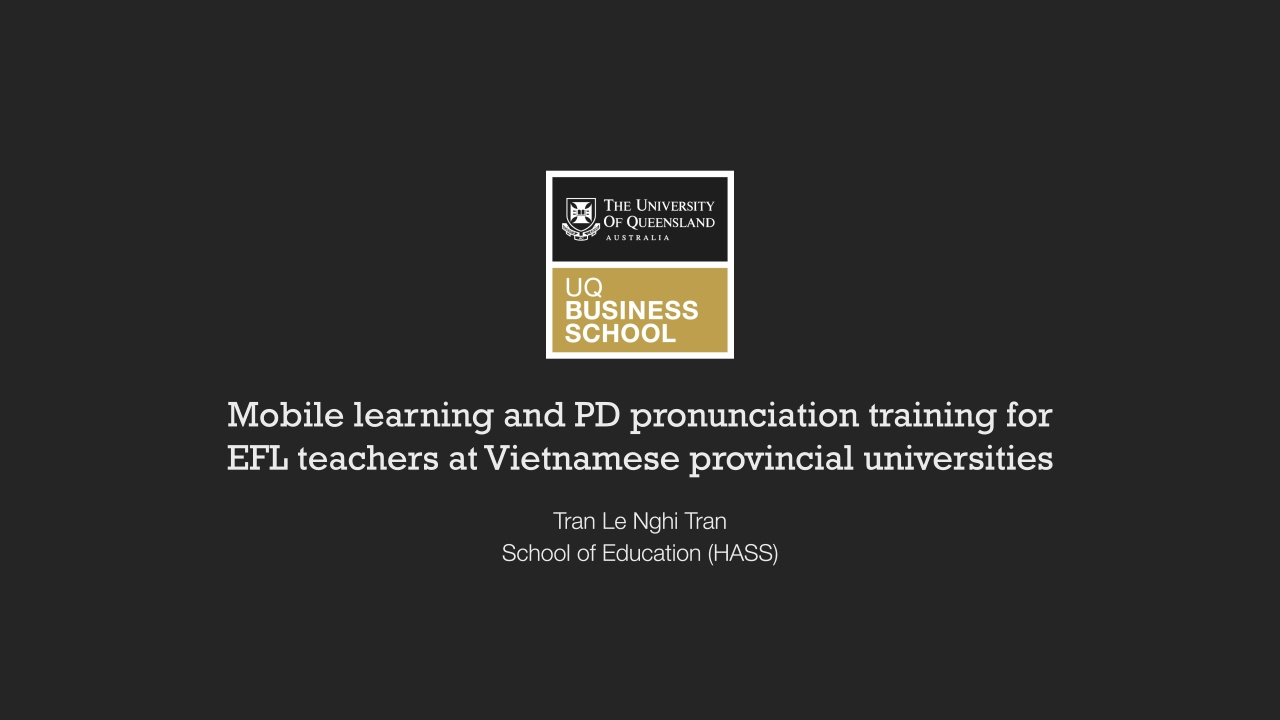 Mobile learning and PD pronunciation training for EFL teachers at  Vietnamese provincial universities