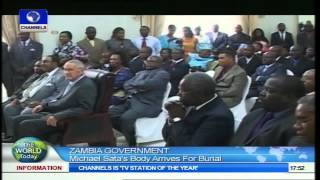 world today michael sata s body arrives zambia for burial