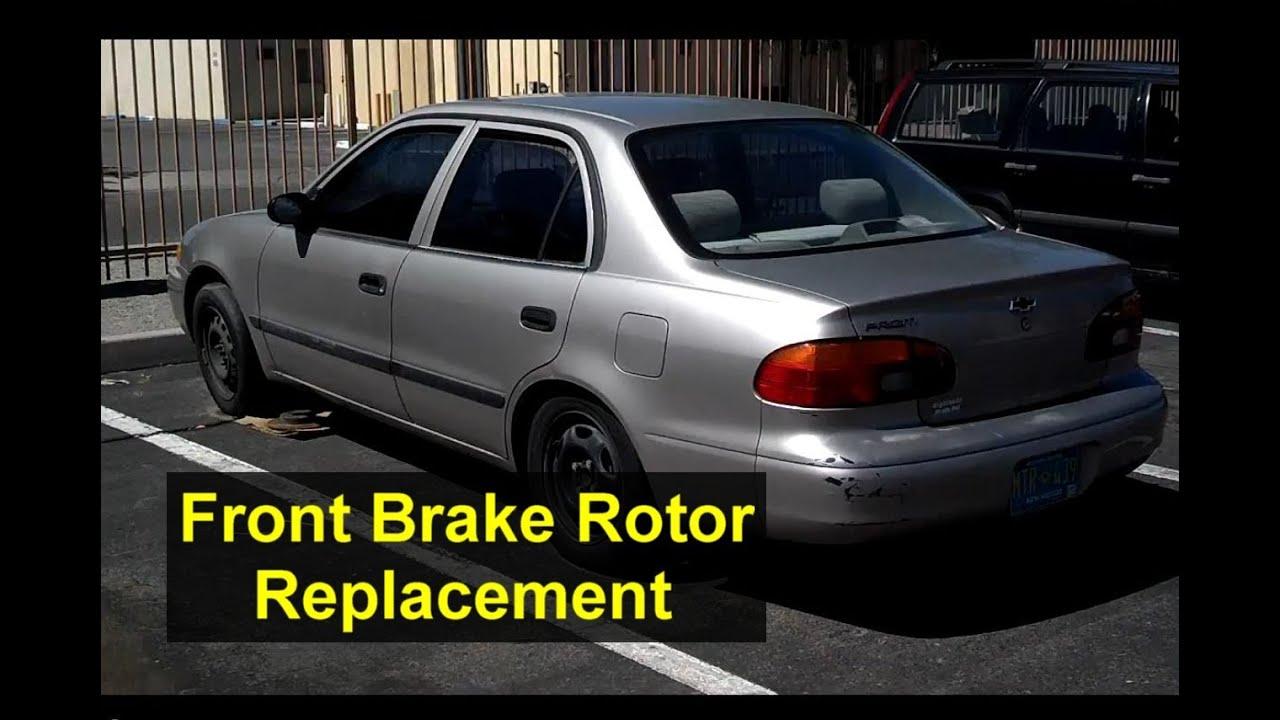 hight resolution of brake rotor replacement geo chevrolet prizm auto repair series