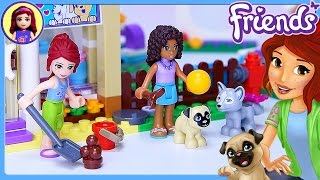 Lego Friends Heartlake Puppy Daycare Set Build Review Silly Play - Kids Toys(Puppies! Who wants to play with puppies all day as their job at the Lego Friends Heartlake Puppy Daycare 41124? Pick me!! This speed build (with slow bits to ..., 2016-08-12T14:27:34.000Z)