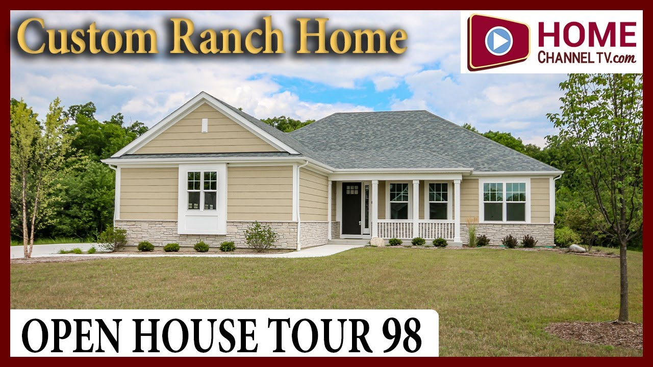 Open House Tour 98 - Custom Ranch Home Design in Salem Wisconsin by US Shelter Homes