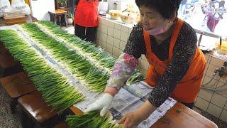 Amazing Korean Green Onion Pizza / Korean Street Food