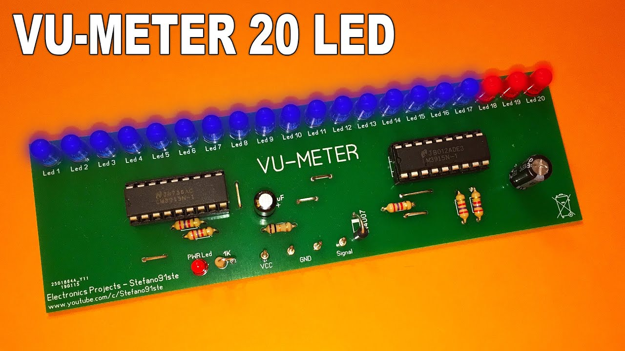 20 led vu meter schematic electronic projects circuits wiring