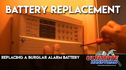 Replacing a burglar alarm battery