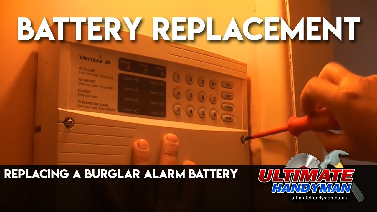 hight resolution of replacing a burglar alarm battery